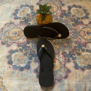 Havaianas Slim Flip Flops with crystal detail